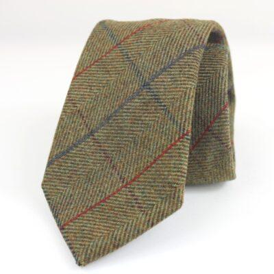 Corbata de lana espigas beige