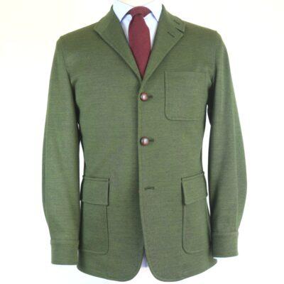 Tebe lana y acrílico verde