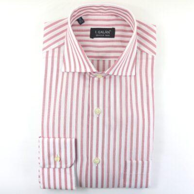 Camisa barra ancha burdeos