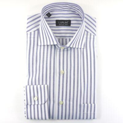 Camisa barra ancha azul