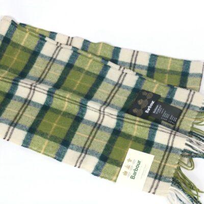 Bufando Barbour cuadros verde