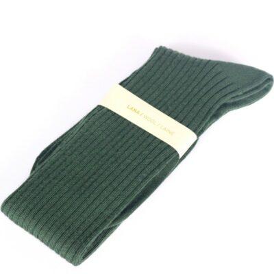 Calcetín alto de lana verde